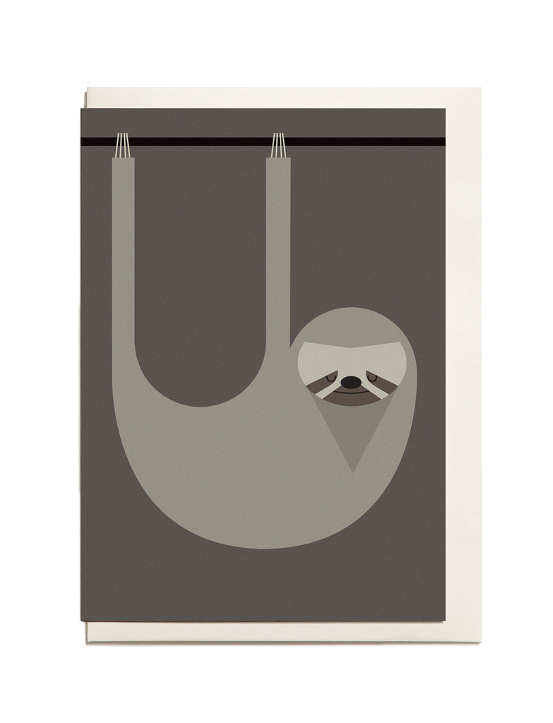 Sloth A6 Greeting Card