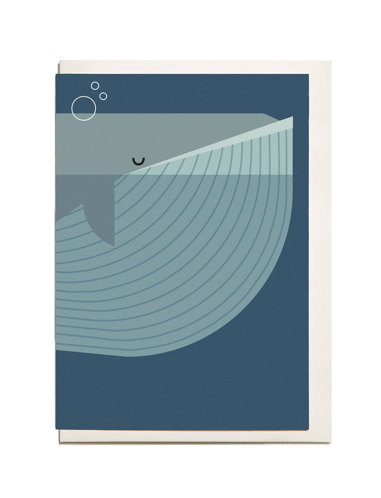 Whale A6 Greeting Card