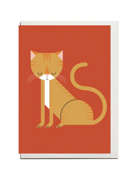 Ginger Cat A6 Greetings Card