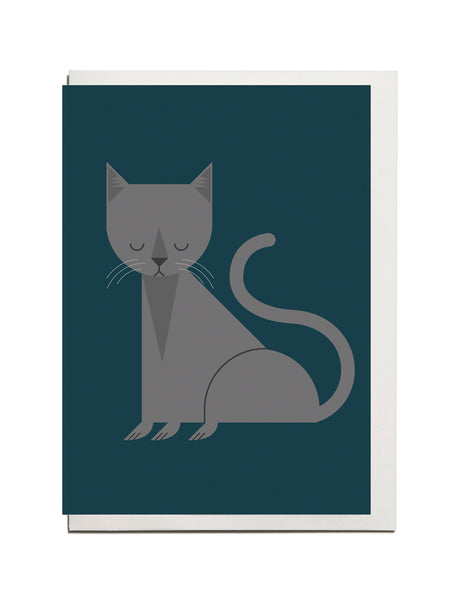 Russian Blue Cat A6 Greeting Card