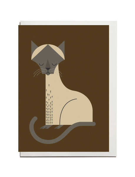 Siamese Cat A6 Greeting Card
