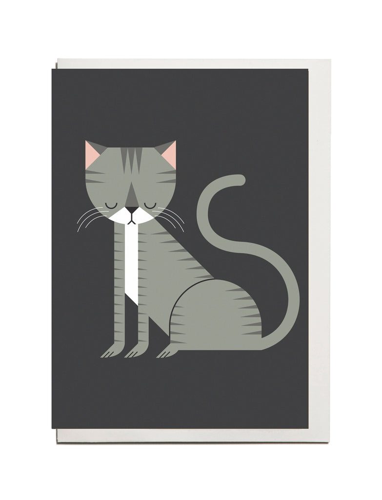 Tabby Cat A6 Greeting Card