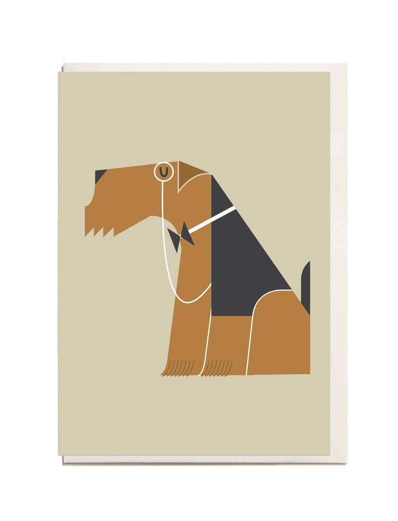 Airedale Terrier A6 Greeting Card