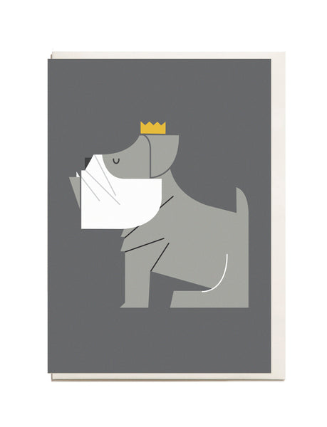 Bull Dog A6 Greeting Card