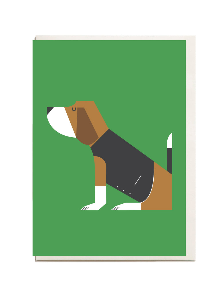 Beagle A6 Greeting Card