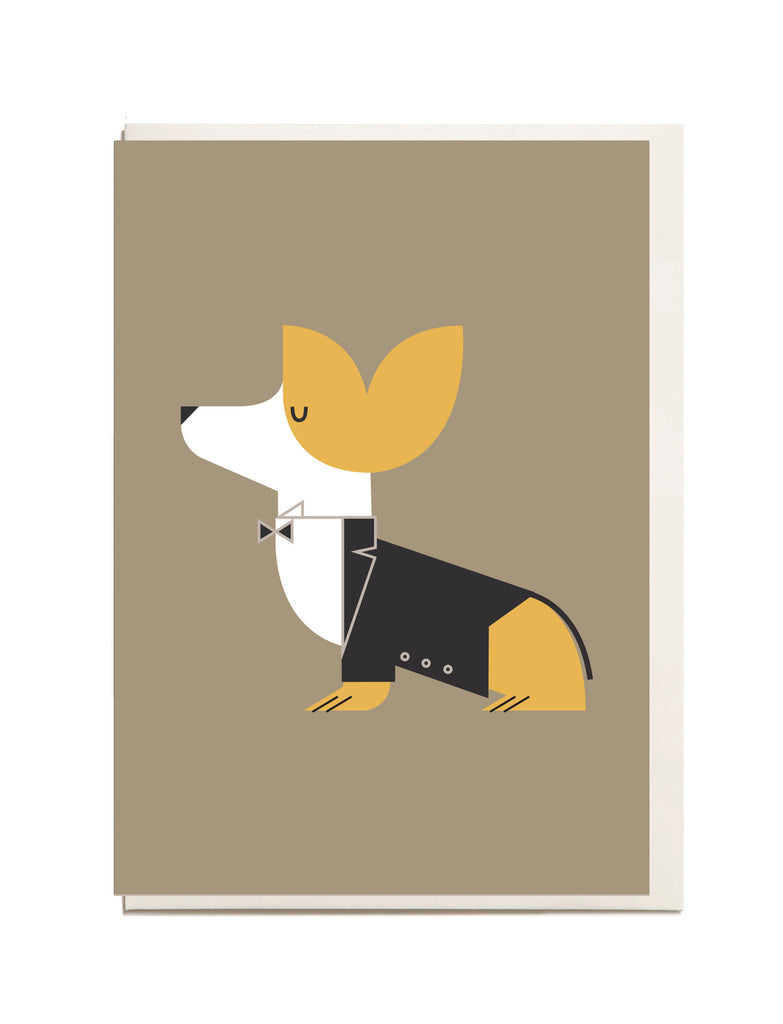 Corgi A6 Greeting Card