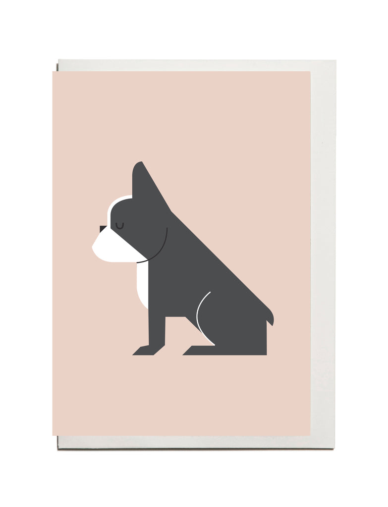 French Bulldog A6 Card