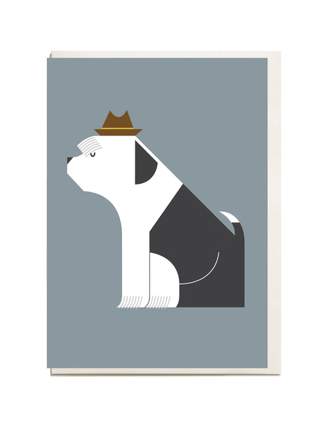 Sheep Dog A6 Greeting Card