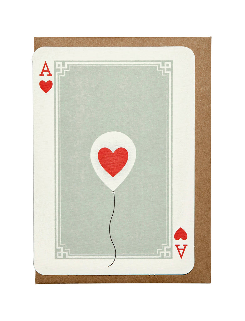 Ace of Hearts A6 Greeting Card