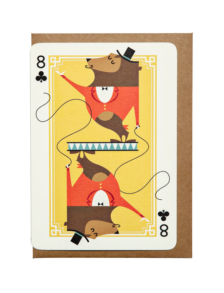 8 of Clubs A6 Greeting Card