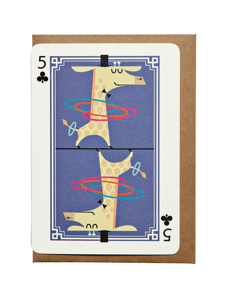 5 of Diamonds A6 Greeting Card