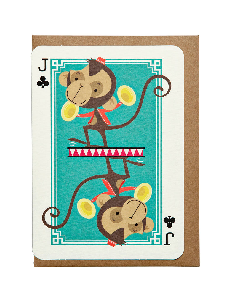 Jack of Clubs A6 Greeting Card
