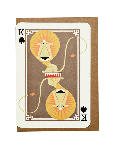 King of Spades A6 Greeting Card