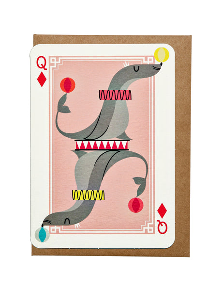 Queen of Diamonds A6 Greeting Card