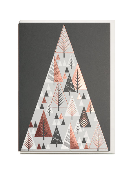 CHRISTMAS OFFER. Foil Christmas Mountain A6 Greeting Card.
