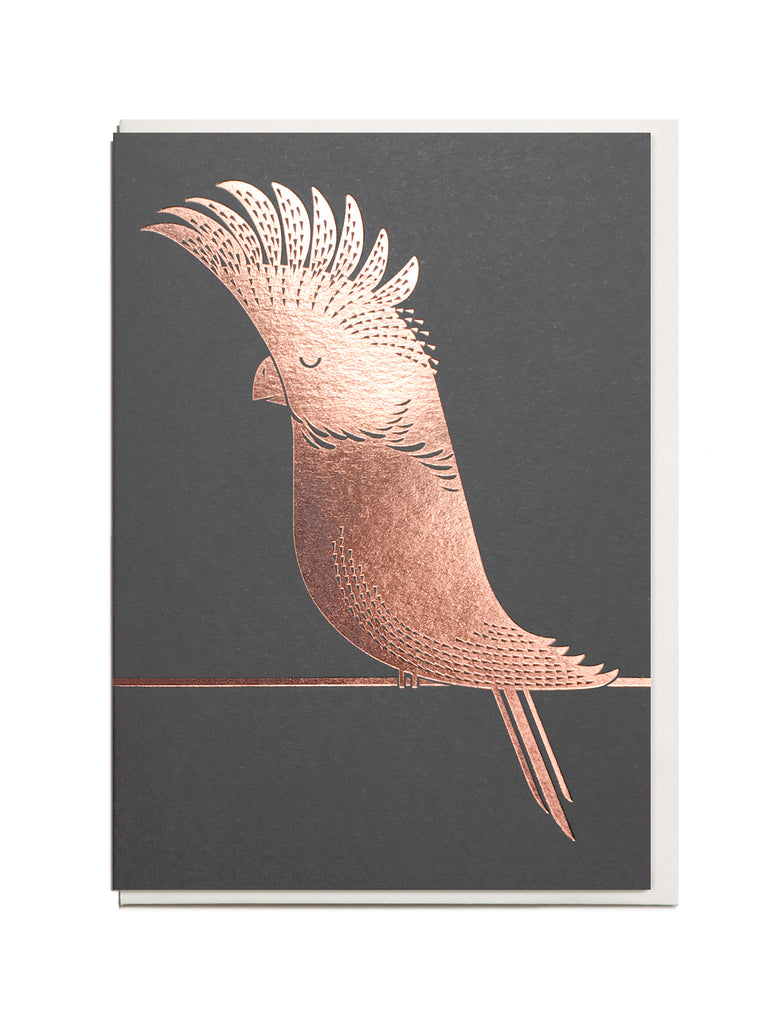 Foil Cockatoo A6 Greeting Card