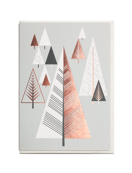CHRISTMAS OFFER.        Foil Christmas Tree A6 Greeting Card