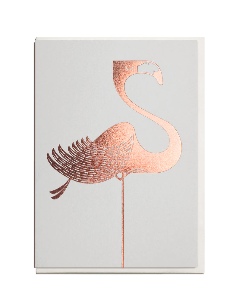 Foil Flamingo A6 Greeting Card