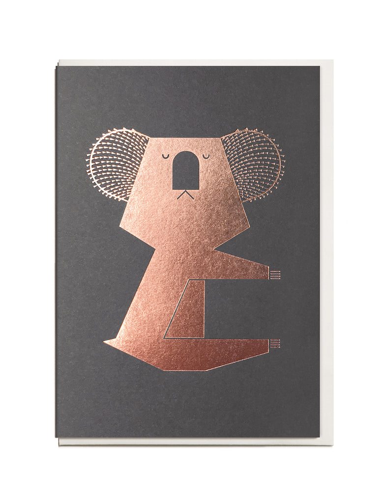 Foil Koala A6 Greeting Card