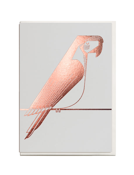 Foil Macaw A6 Greeting Card