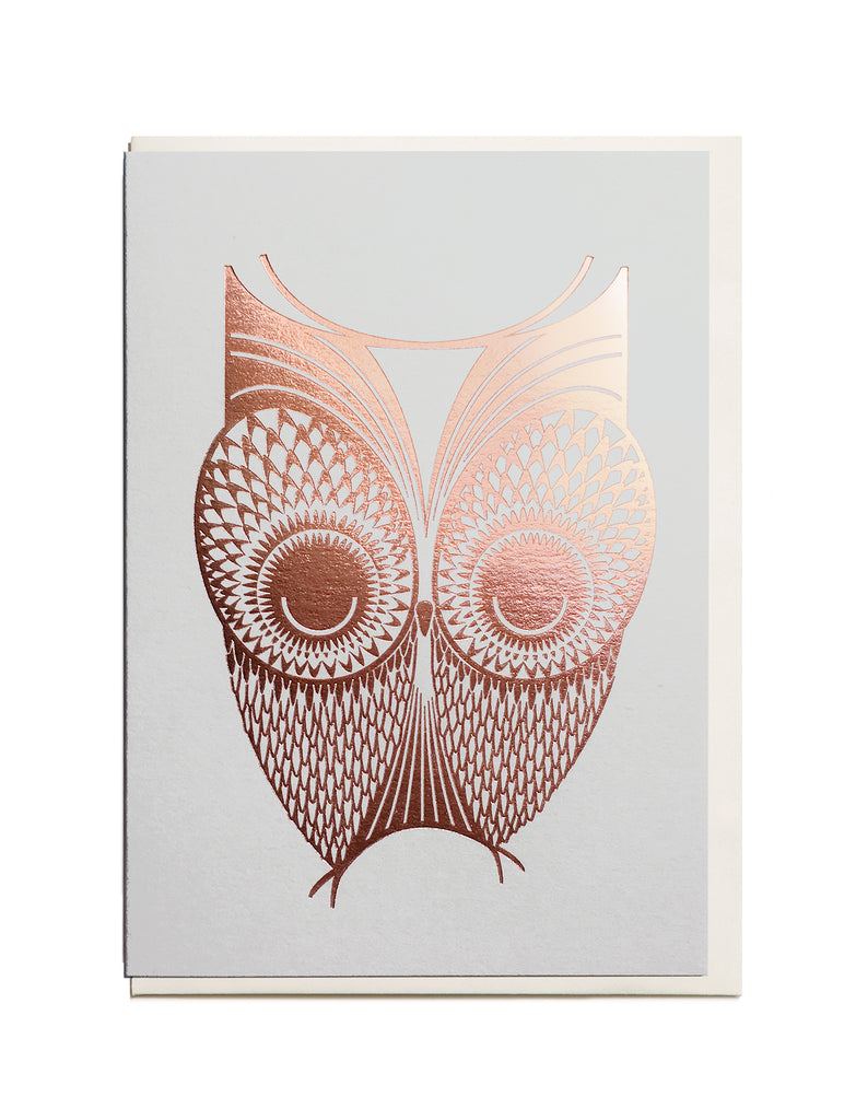 Foil Owl A6 Greeting Card