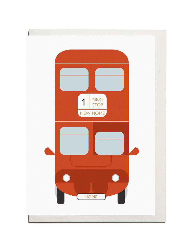 "London Bus ""New Home"" A6 Card"