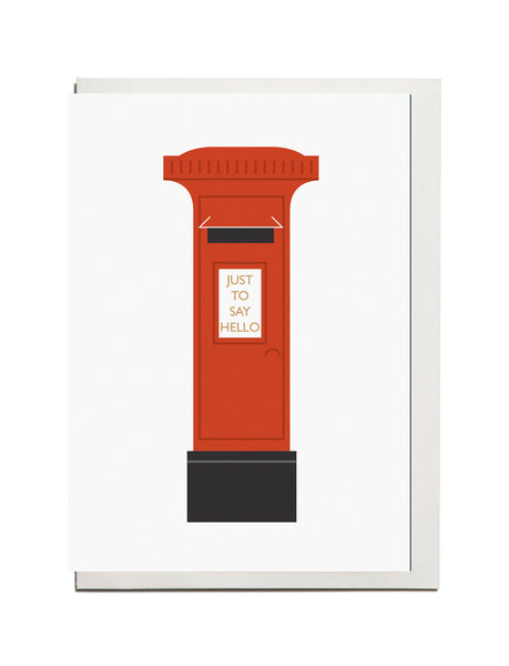 "Letterbox  ""Just to say hello"" A6 Card"
