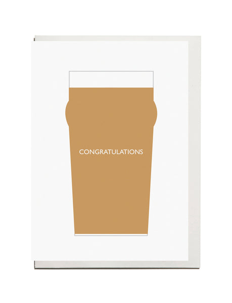 "Pint "" Congratulations"" A6 Card"