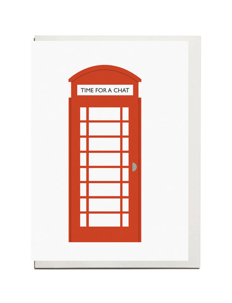 "Telephone Box ""Time for a chat"" A6 card"