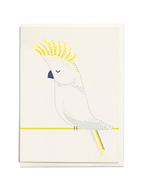 Gelato Cockatoo A6 Greeting Card