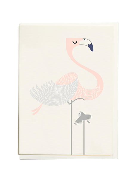Gelato Flamingo A6 Greeting Card