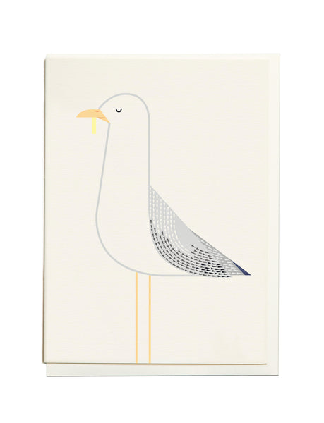 Gelato Seagull A6 Greeting Card
