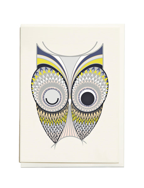 Gelato Owl A6 Greeting Card