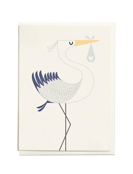 Gelato Stork A6 Greeting Card