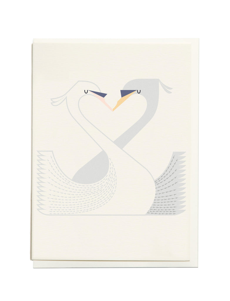 Gelato Swan A6 Greeting Card