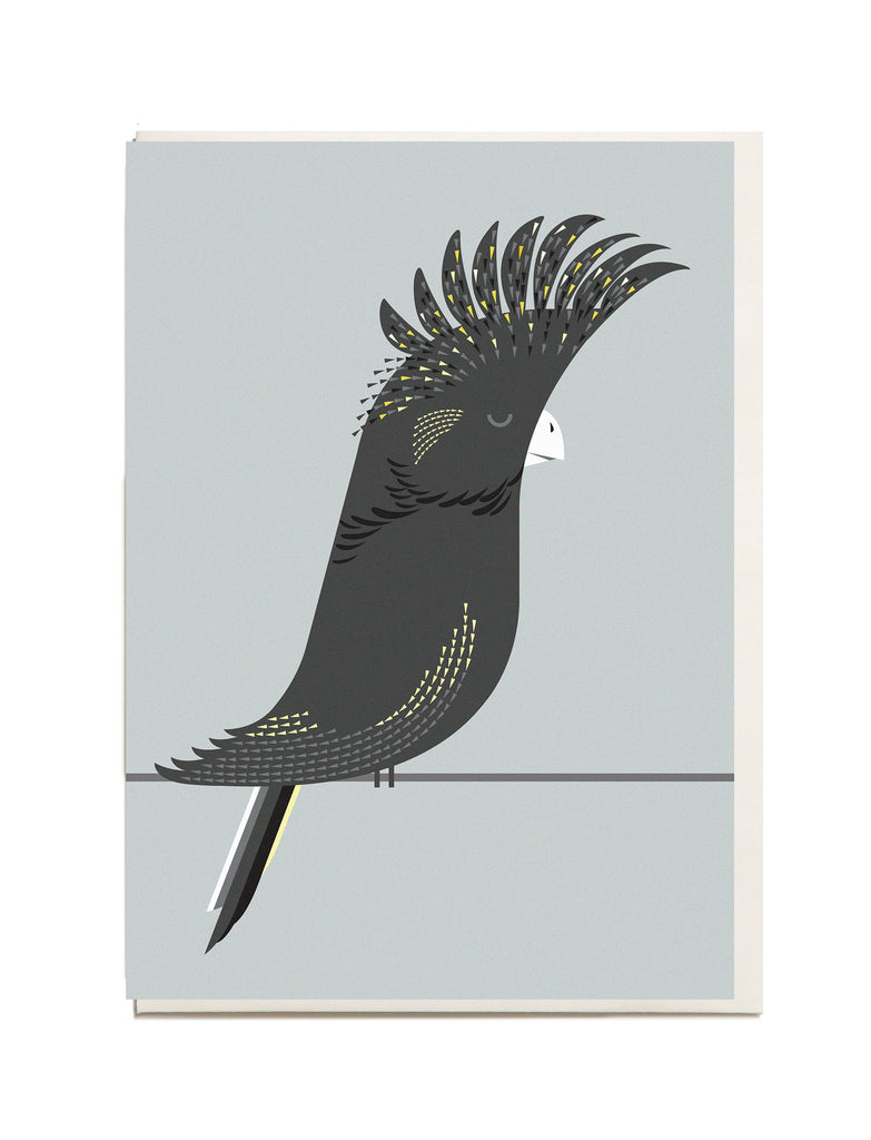 Black Cockatoo A6 Greeting Card