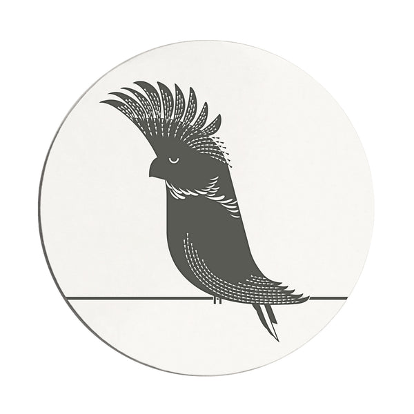 Black Cockatoo Coaster