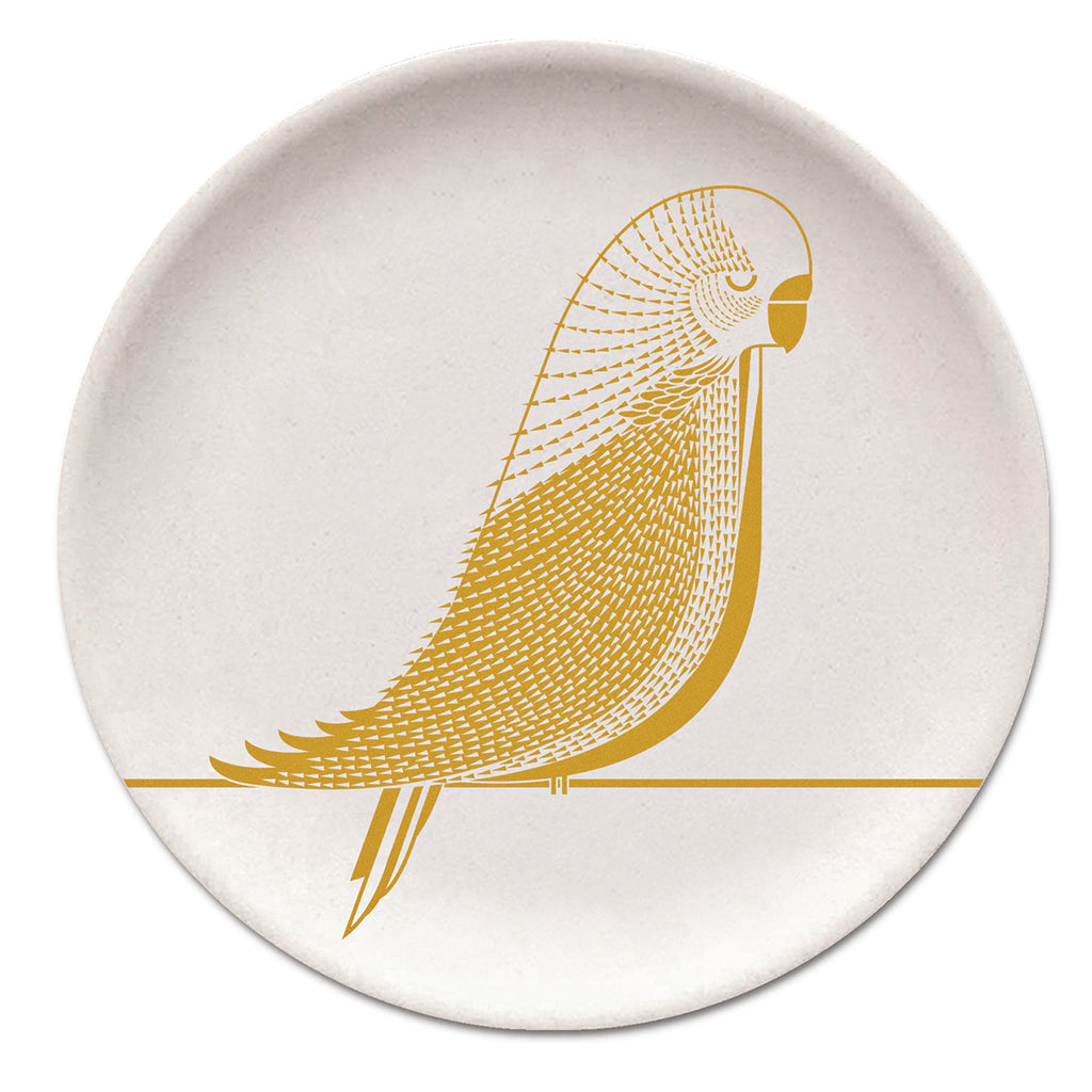 Budgie Bamboo Plate