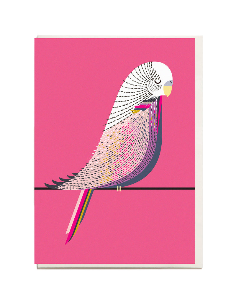 Budgie A6 Greeting Card