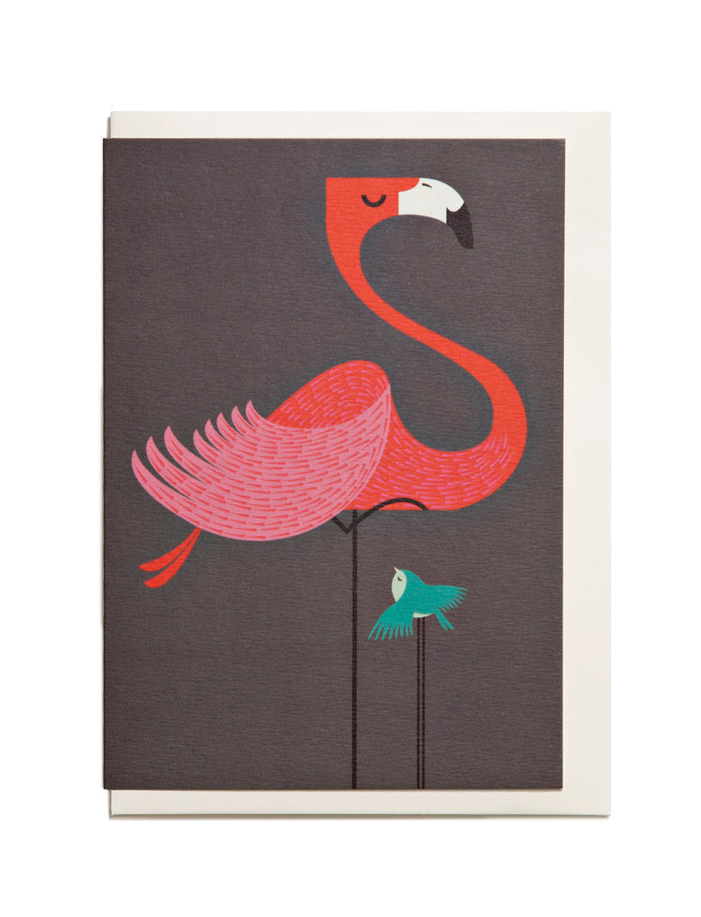 Flamingo A6 Greeting Card