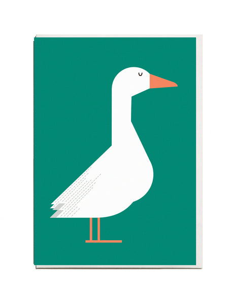 Goose A6 Greeting Card