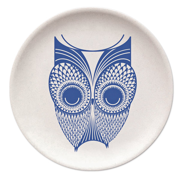 Owl Bamboo Plate