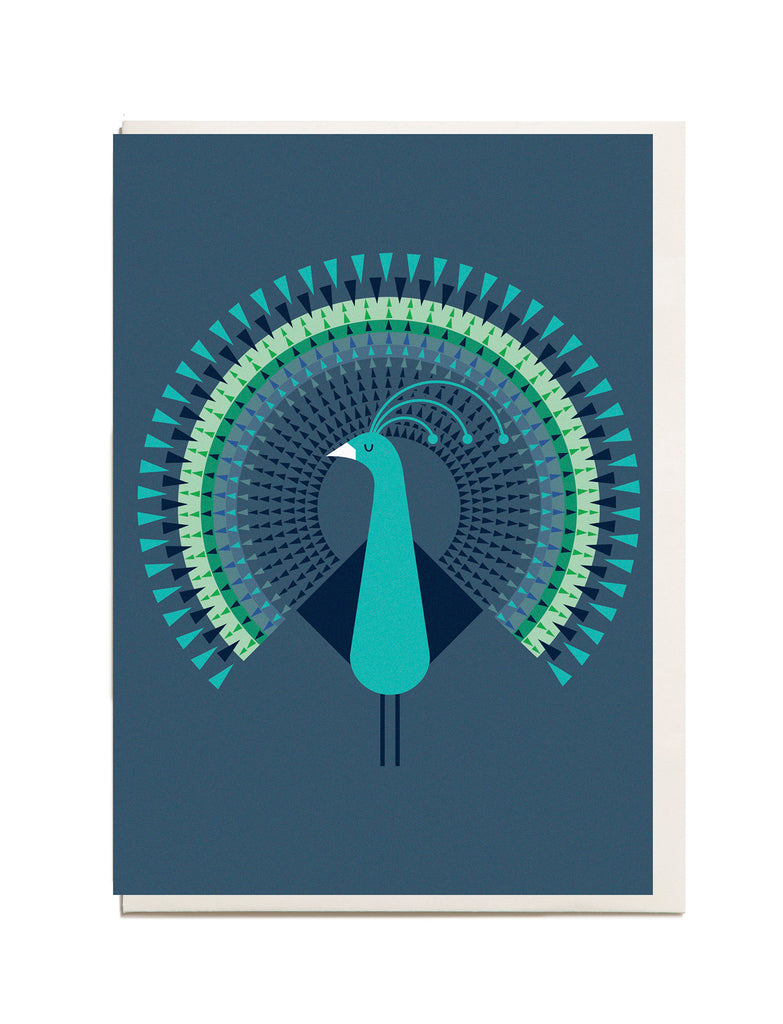 Peacock A6 Greeting Card