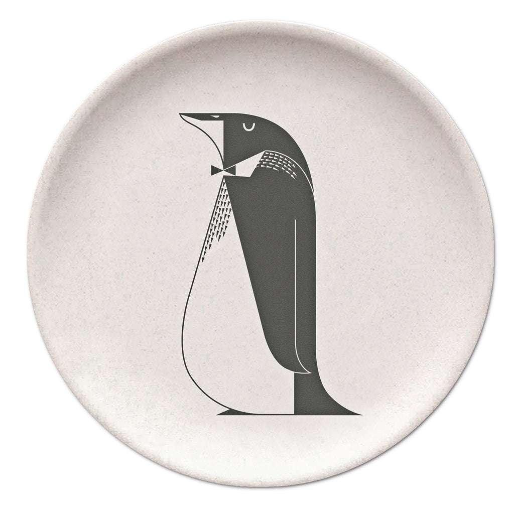 Penguin Bamboo Plate