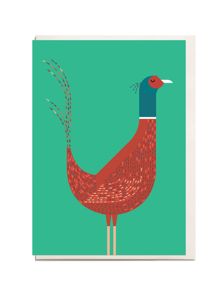 Pheasant A6 Greeting Card