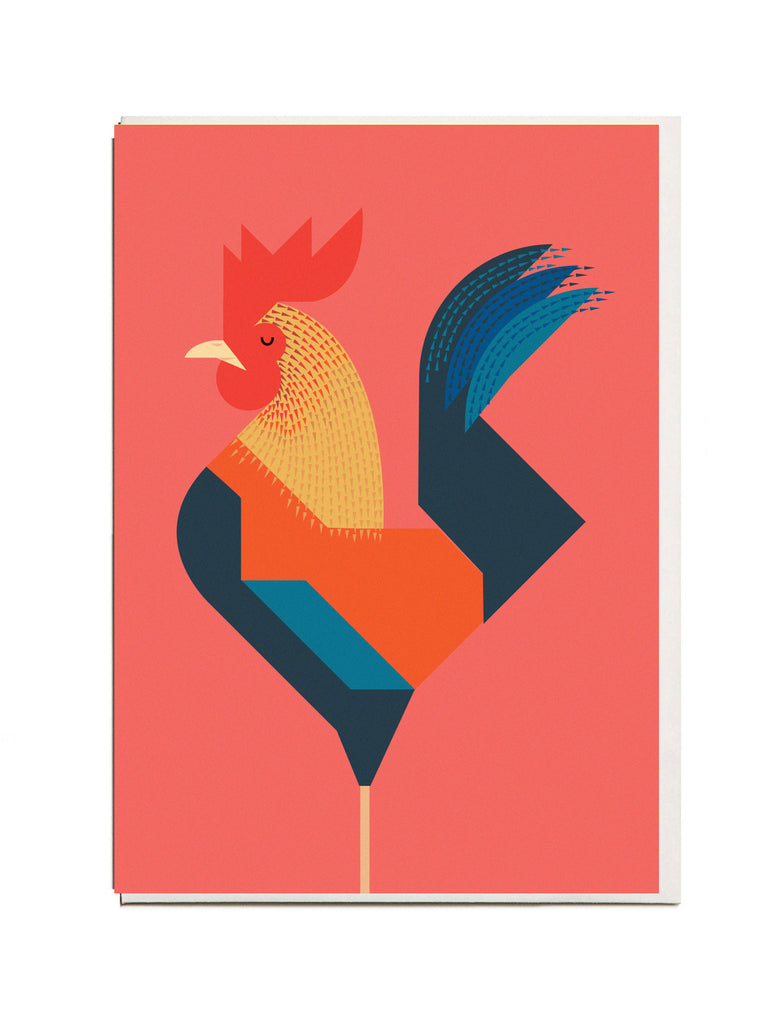 Rooster A6 Greeting Card