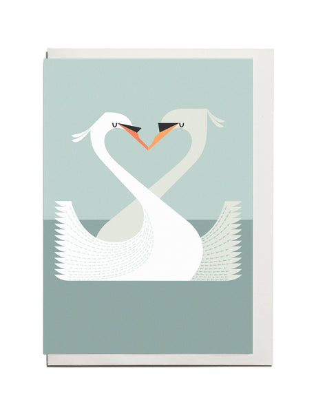 Swan A6 Greeting Card