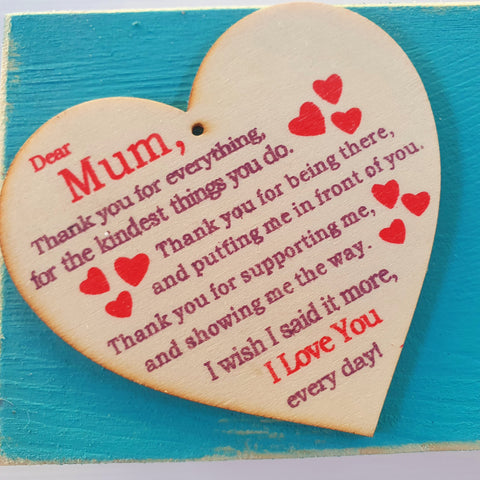 "Mother's Day ten soaps plus blue timber gift box with ""Mum'' tag"