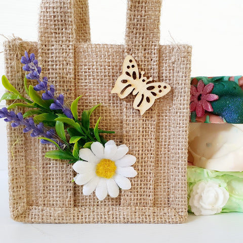Three handmade soaps With Jute Bag