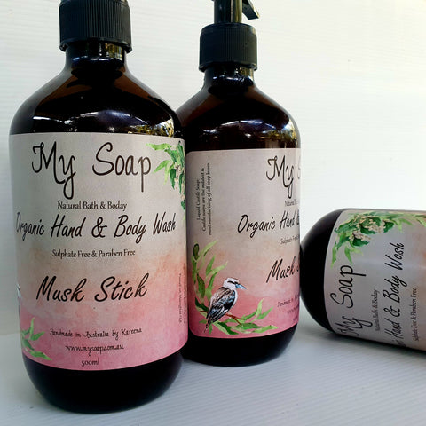 Musk Stick Organic Hand & Body Wash 500ml